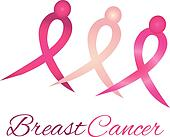 Breast cancer logo awareness ribbon