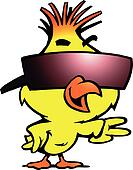 chicken with cool sunglass