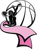 Basketball Shooter with Pink Ribbon