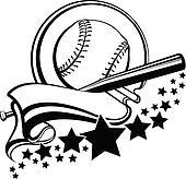 Baseball or Softball With Pennant