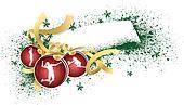 Volleyball Christmas Gift Tag