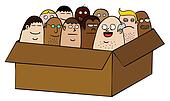 People in box
