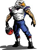 Eagle Football Player in Uniform Vector Illustration