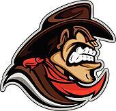 Cowboy or Bandit Mascot Head Vector Illustration