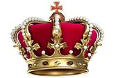 Gold crown with gems