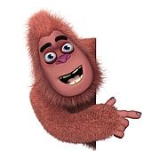 cute red bigfoot