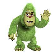 cute green yeti