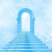 The stairway to heaven leading to God
