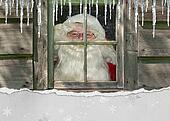 Santa Claus in window