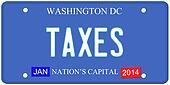 Taxes Washington DC License Plate
