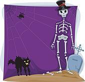 Halloween Skeleton Background
