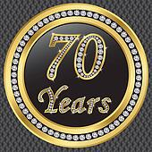 70 years anniversary, happy birthda