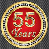 55 years anniversary, happy birthda