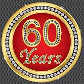 60 years anniversary, happy birthda