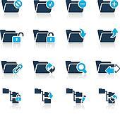 Folder Icons - 1 // Azure Series