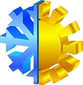 sun & snowflake icon
