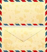 old airmail envelope
