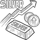 Silver price increase sketch