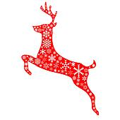 christmas reindeer in red