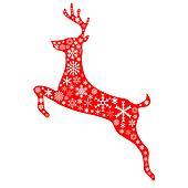 christmas reindeer in red