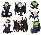 Illustrations of Dracula n Vampires