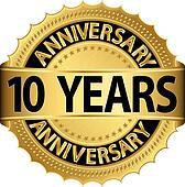 10 years anniversary golden label