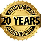 20 years anniversary golden label