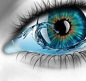 eye with water