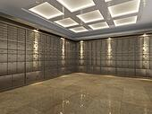 Interior of a bank vault