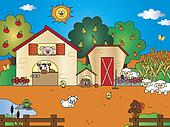 farm cartoon