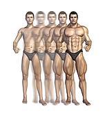 Bodybuilder's Transformation