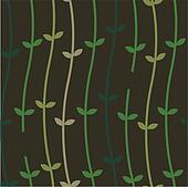Plant Vines on a Wall_Seamless Pattern_stock