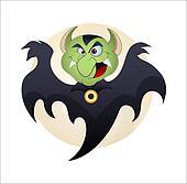 Funny Cartoon Vampire Illustration