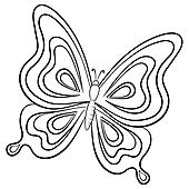 Butterfly, contours