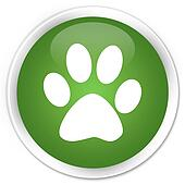 Animal footprint green button