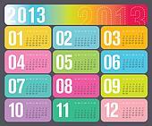Yearly Calendar 2013 design
