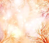Abstract Background with Tree Border