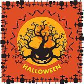 Halloween border background orange