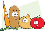Vegetable Cartoon Characters