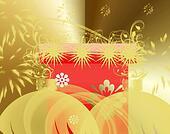 Gold Christmas fantasy