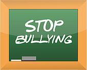 stop bullying text written