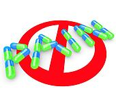 No Pain Word Pills Capsules Alleviate Painful Feeling