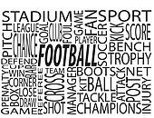 Different Football Words Cloud
