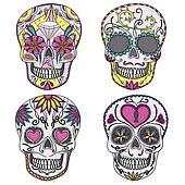 mexican sugar skull set