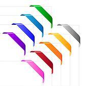 Corner ribbons in various colors