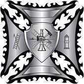 Firefighter Cross Silver Shield
