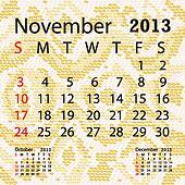 november 2013 calendar albino snake skin