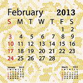 february 2013 calendar albino snake skin.