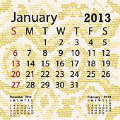 january 2013 calendar albino snake skin