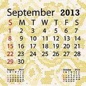 september 2013 calendar albino snake skin